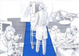 Decontaminating mats for hospital